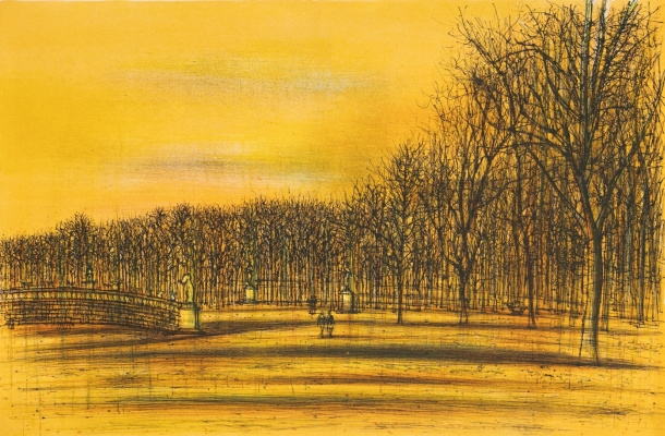Jean Garzu (Karzu). Bridge in the park