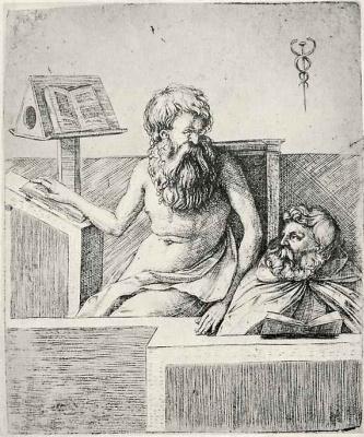 Якопо де Барбари. Два старца за чтением