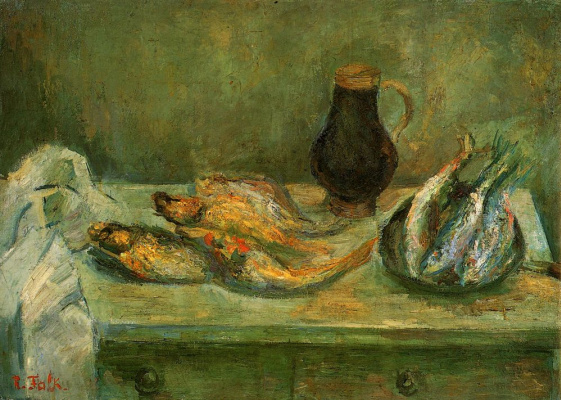 Роберт Рафаилович Фальк. Натюрморт с рыбами