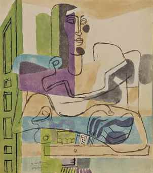 Le Corbusier. The angel of the hearth (Sketch)