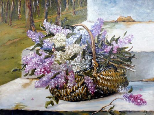 Sergei Nikolayevich Khodorenko-Zatonsky. Lilacs in the basket