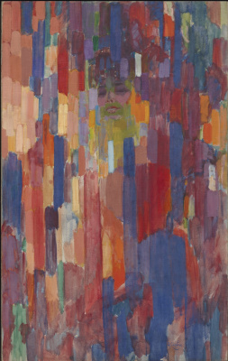 Frantisek Kupka. Madame Kupka among vertical lines