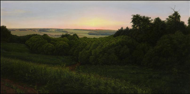Alexander Mikhailovich Sushenok. Sunset in Pollenovo