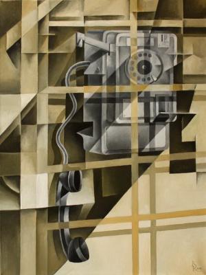 Vasily Krotkov. Payphone. Kubofuturizm