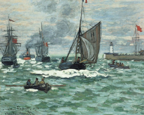 Claude Monet. The entrance to the port of Honfleur