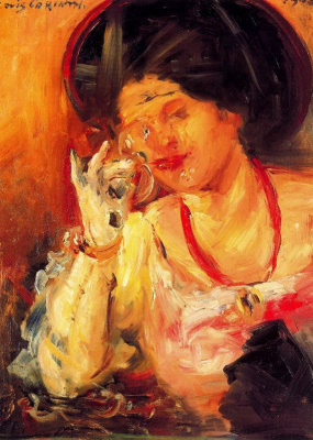 Lovis Corinto. Woman with glass of wine