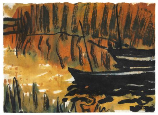 Emil Nolde. Boat