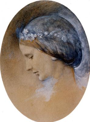 John Ruskin. Portrait of Rosa La Touche (oval)