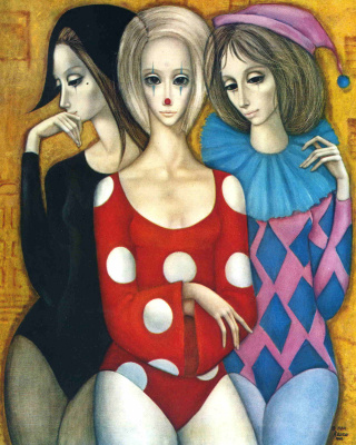 Margaret Kin. Three girls