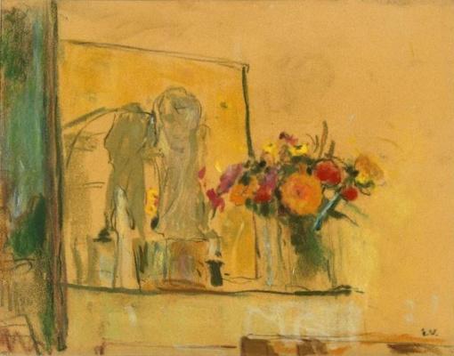 Жан Эдуар Вюйар. Букет полевых цветов на камине