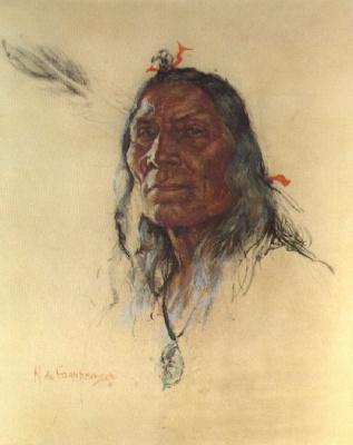 Николас де Гранмезон. Индейский портрет 57