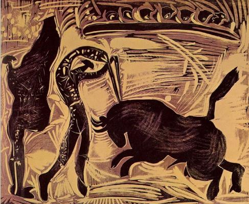 Pablo Picasso. The banderillas