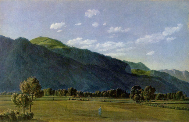 Вильгельм Александр Вольфганг фон Кобелль. Вид на долину Кройт