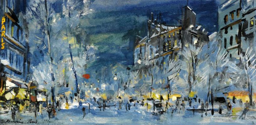 Константин Алексеевич Коровин. Париж зимой