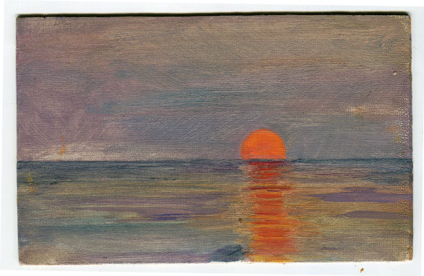 Vasily Fadeevich Demin. Sunset
