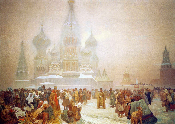 Alphonse Mucha. The Slavic epos. The abolition of serfdom in Russia