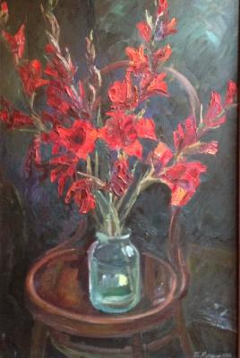 """Boris Anatolyevich Mutovkin. """"Red gladiolus"""""""