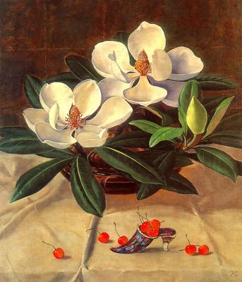 К Тсуненосук. Белые цветы