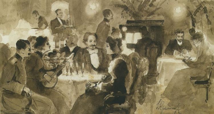 Ivan Nikolayevich Kramskoy. The restaurant