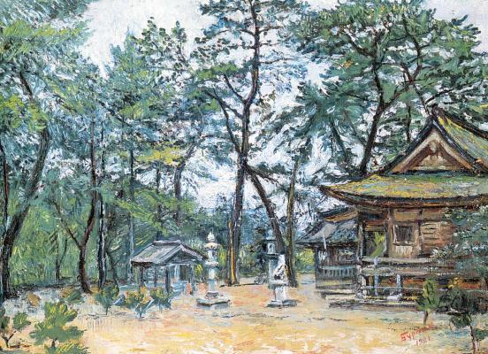 Давид Давидович Бурлюк. Ворота храма в Японии