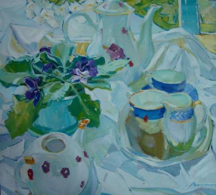 Renat Ramazanov. Still life with violets