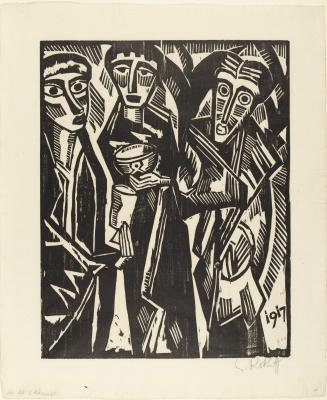 Karl Schmidt-Rottluff. Three wise men