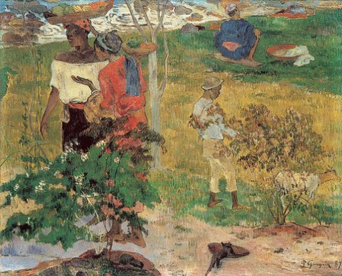 Paul Gauguin. Conversation (Tropics)