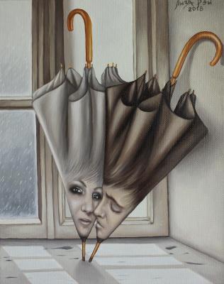 Lisa Ray. Love the umbrellas