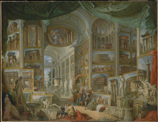 Giovanni Paolo Pannini. Gallery with views of ancient Rome