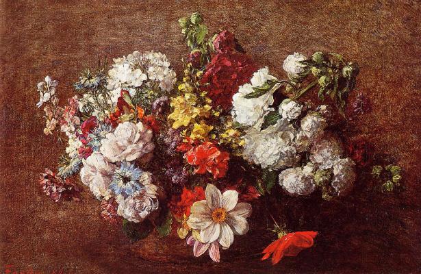 Henri Fantin-Latour. A bouquet of flowers