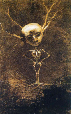 Odilon Redon. The spirit of the forest (Specter from giant tree)