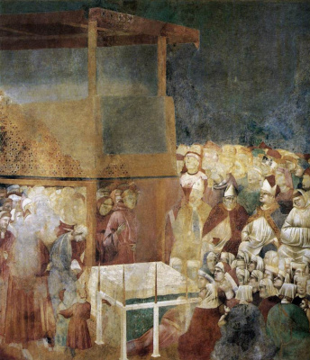 Giotto di Bondone. The canonization of St. Francis. The Legend of St. Francis