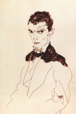 Egon Schiele. Self-portrait