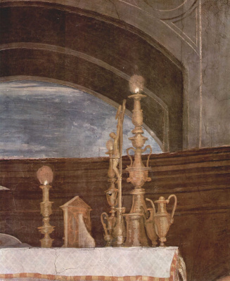 Raphael Sanzio. The mass at Bolsena. Fragment