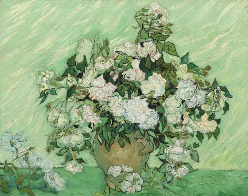 Винсент Ван Гог. Натюрморт Ваза с розами