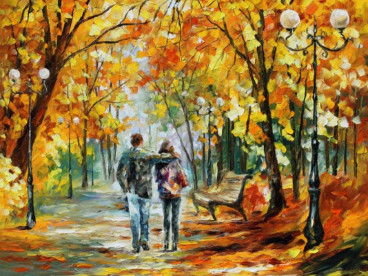 Leonid Afremov. Walk