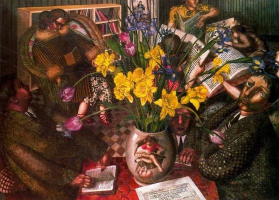 John Roddem Spencer-Stanhope. Yellow flowers