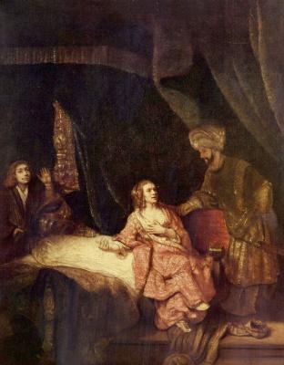 Рембрандт Харменс ван Рейн. Иосиф и жена Потифара