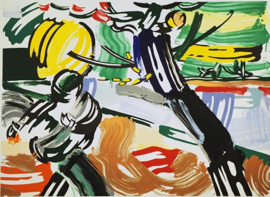 Roy Liechtenstein. The sower. From the series landscapes
