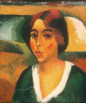 Макс Пехштейн. Портрет женщины