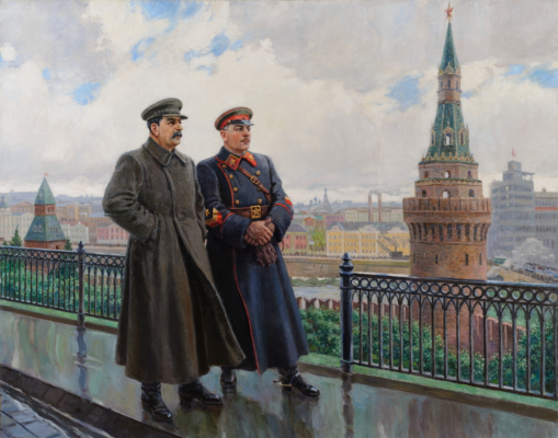 Alexander Mikhailovich Gerasimov. Stalin and Voroshilov in the Kremlin.