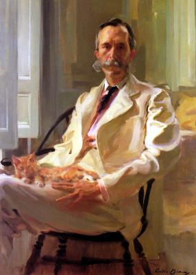 Сесилия Бо. Мужчина с котом