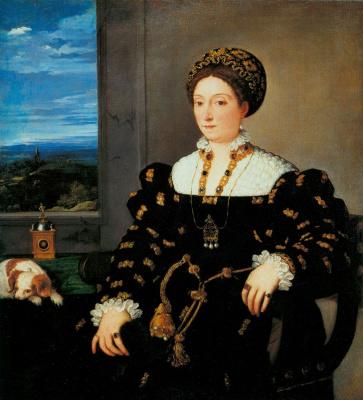 Titian Vecelli. Portrait Of Eleonora Gonzaga