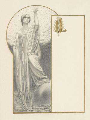 Carlos Schwabe. Allegorical figure. 1908 evil. cr.
