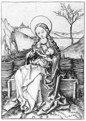 Martin Schongauer. Virgin with the baby