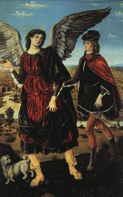 Антонио Поллайоло. Тобиас и ангел