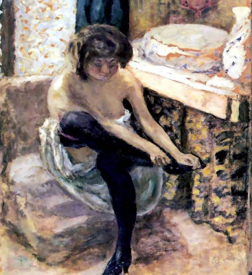 Pierre Bonnard. Woman with black stockings