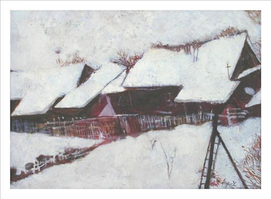 Олег Фёдоров. Дом на дне оврага (Зима)