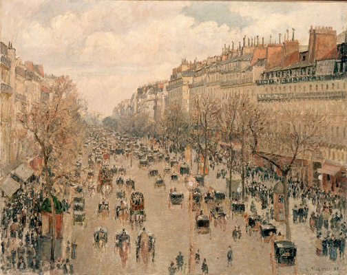 Camille Pissarro. The Boulevard Montmartre. Afternoon sun