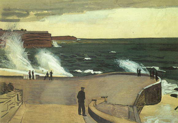Alexander Alexandrovich Deineka. Sevastopol. At the pier